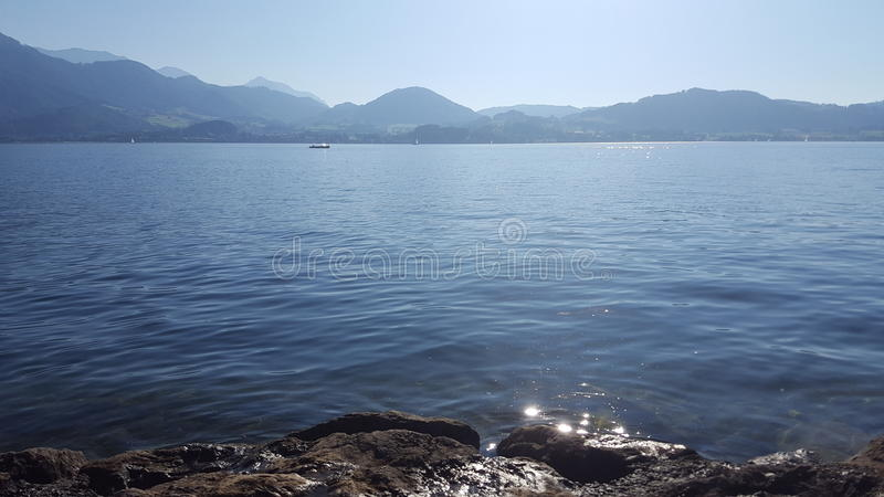 Traunsee stock foto