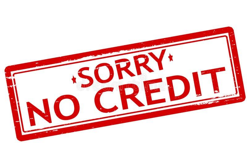 Traurig kein Kredit stock abbildung