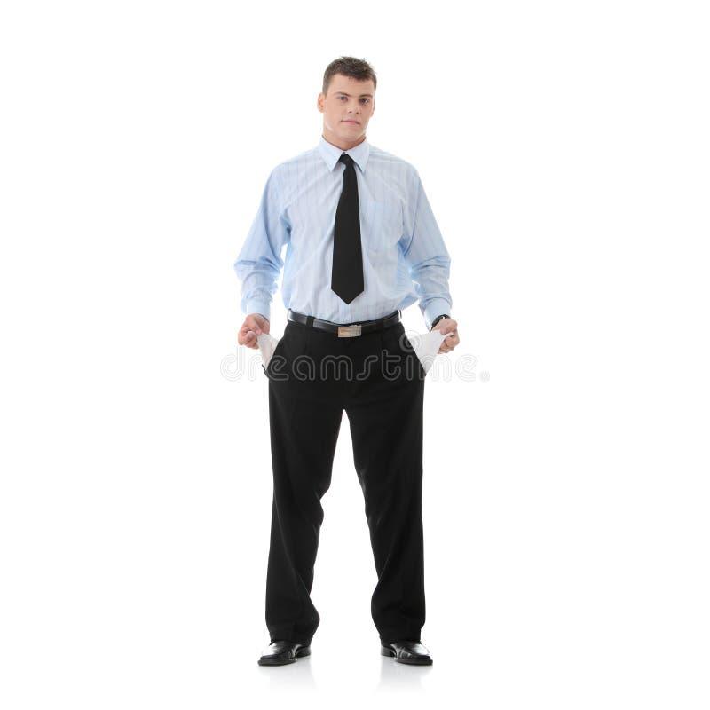 Traurig und brach Geschäftsmann stockfotografie