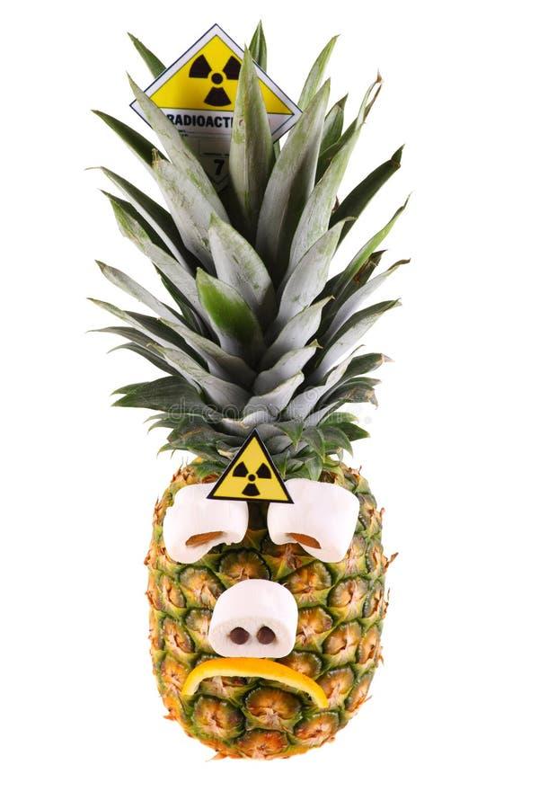 Traurige Ananas stockfotos