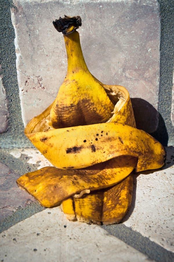 Traurige Banane stockbild