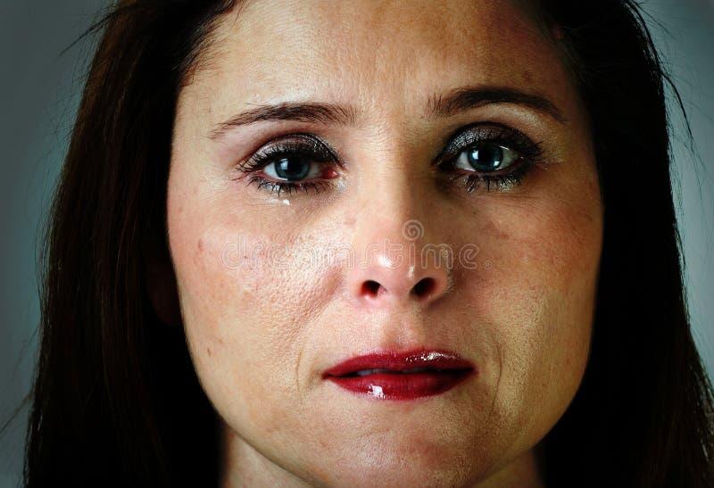 Traurige Frau lizenzfreie stockfotos