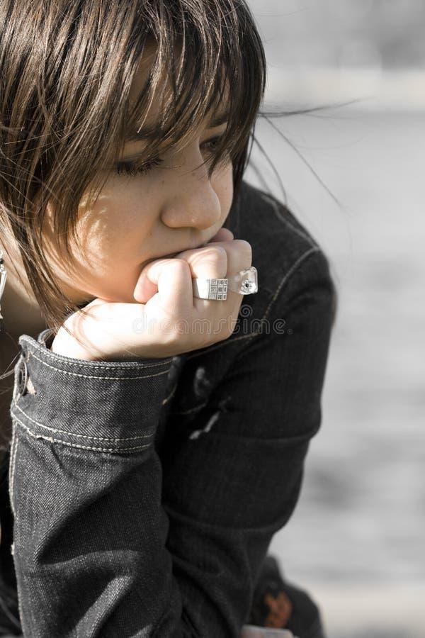 Traurige Frau stockbilder