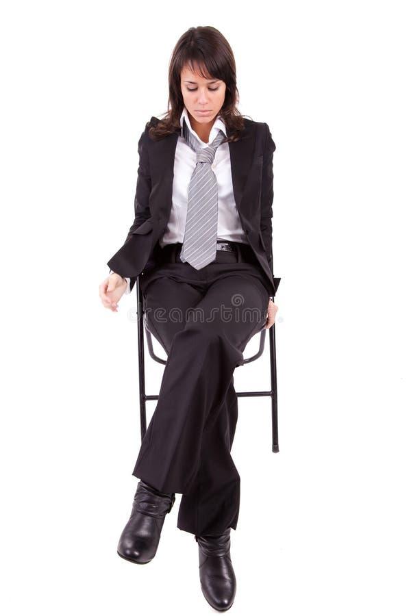 Traurige Geschäftsfrau stockbild