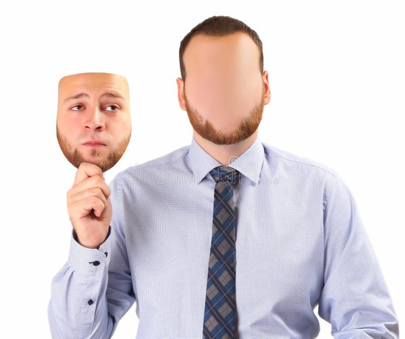 Traurige Maske lizenzfreie stockfotos
