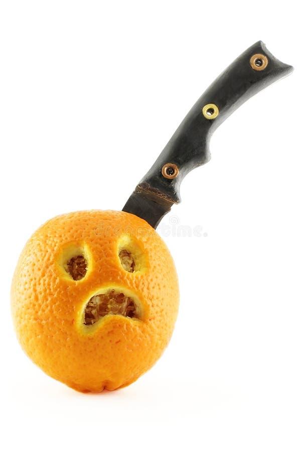 Traurige Orange lizenzfreie stockbilder