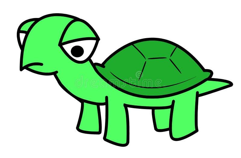Traurige Schildkröten-Zeichentrickfilm-Figur - Text-Raster-Entwurf lizenzfreie abbildung