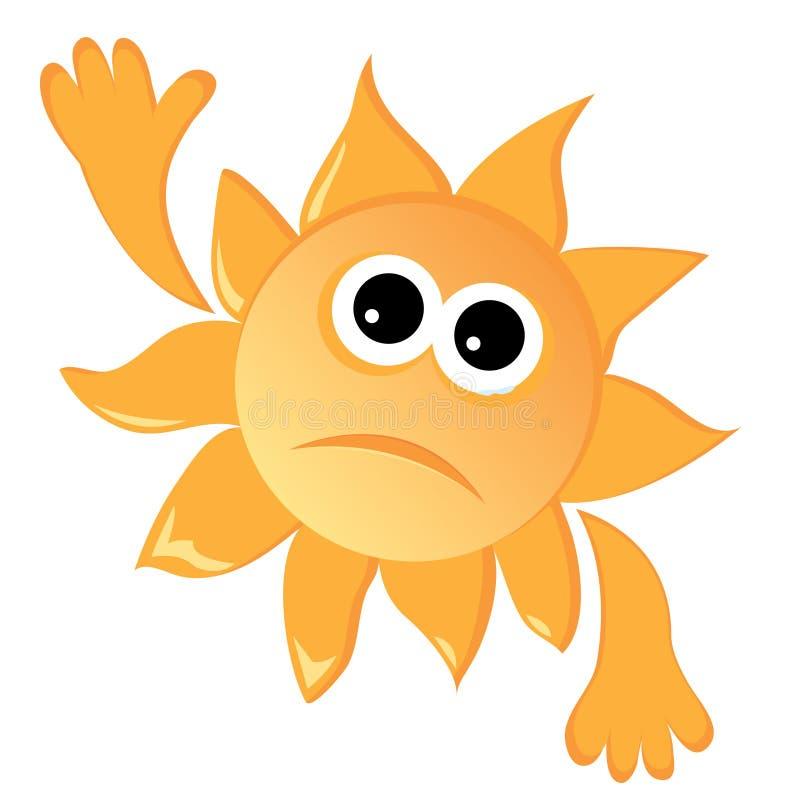 Traurige Sonne stock abbildung