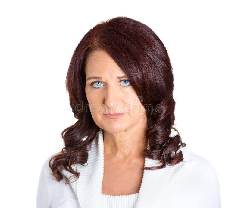 Traurige unglückliche Frau lizenzfreie stockfotografie