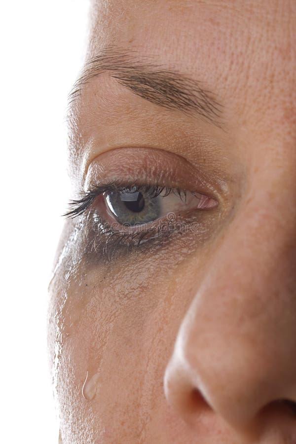 Trauriger Augen-Abschluss oben lizenzfreie stockbilder