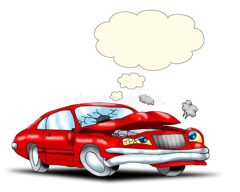 Trauriger Autounfall lizenzfreie abbildung
