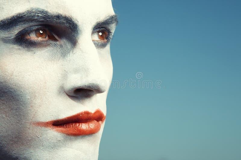 Trauriger Clown stockfotografie