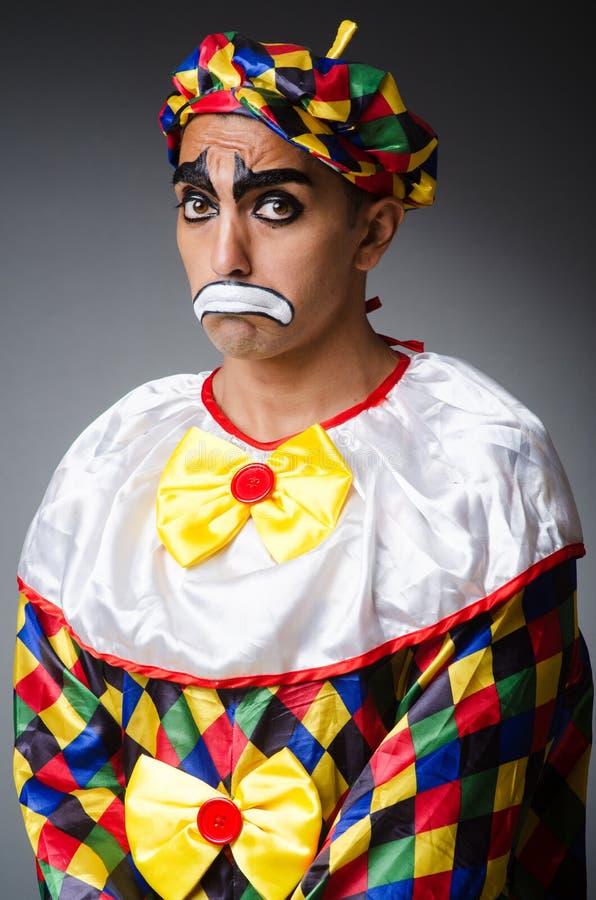Trauriger Clown lizenzfreie stockbilder