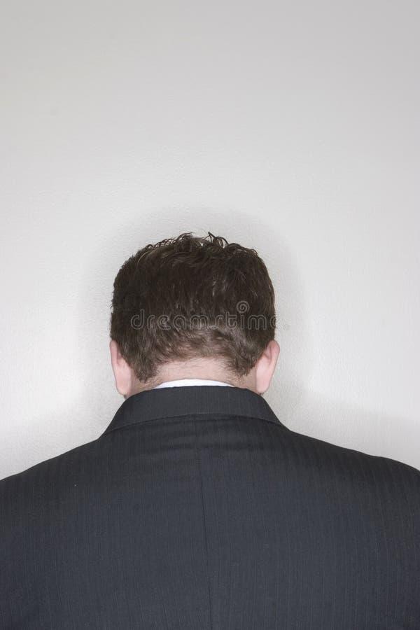 Trauriger Geschäftsmann lizenzfreie stockfotografie