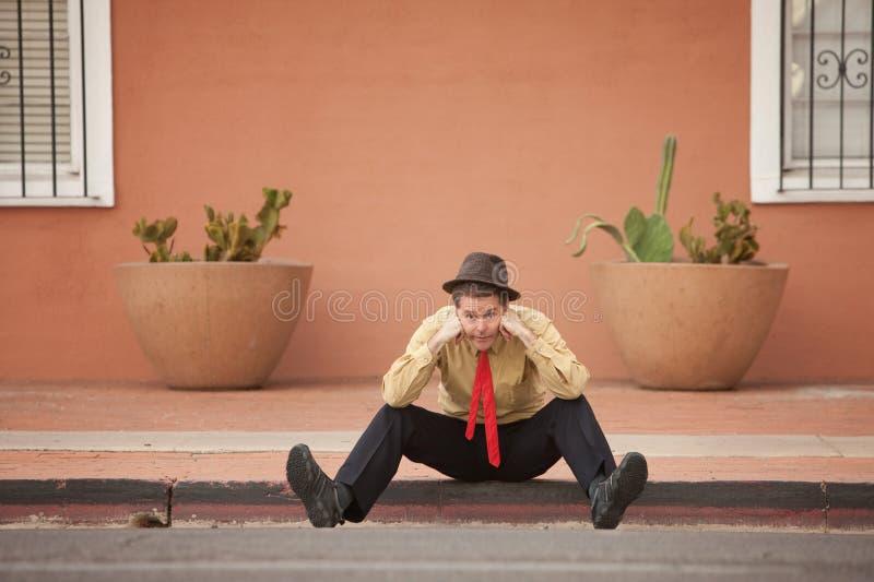 Trauriger Geschäftsmann stockbild