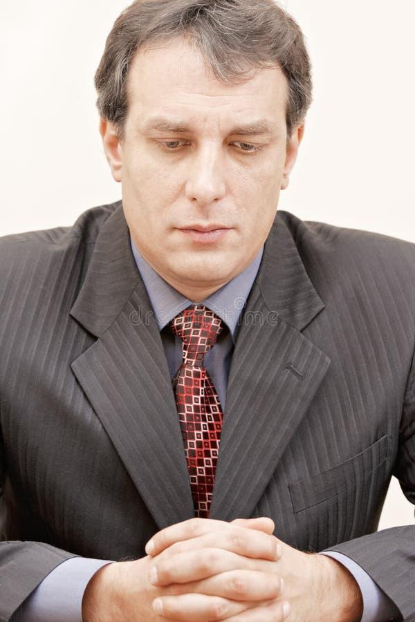 Trauriger Geschäftsmann lizenzfreies stockbild
