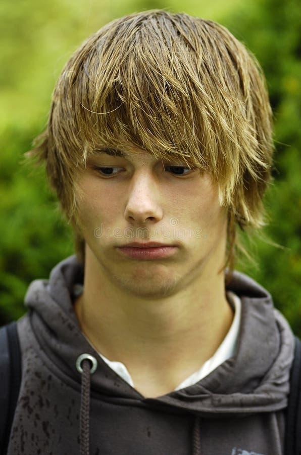 Trauriger Jugendlicher stockbilder