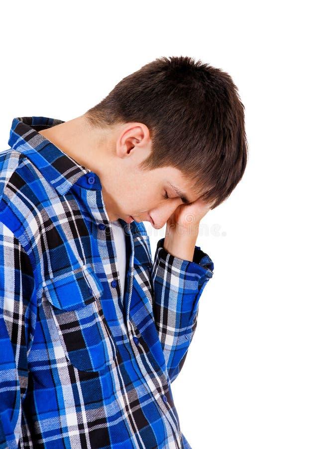 Trauriger junger Mann lizenzfreie stockfotos