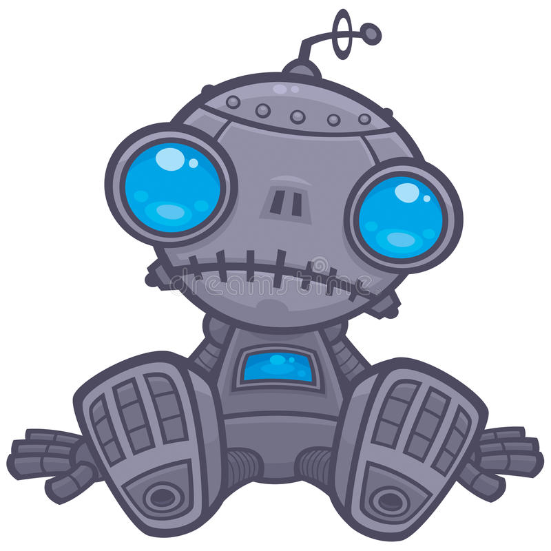 Trauriger Roboter stock abbildung