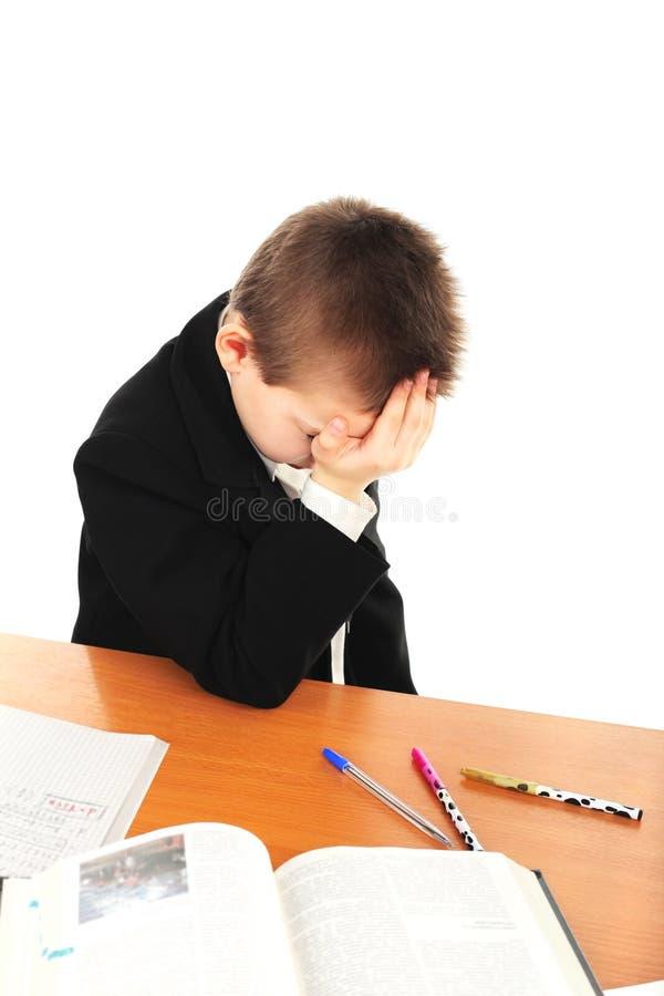 Trauriger Schüler lizenzfreies stockfoto