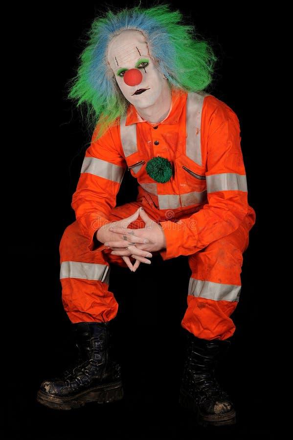 Trauriger schlechter Clown stockfotografie