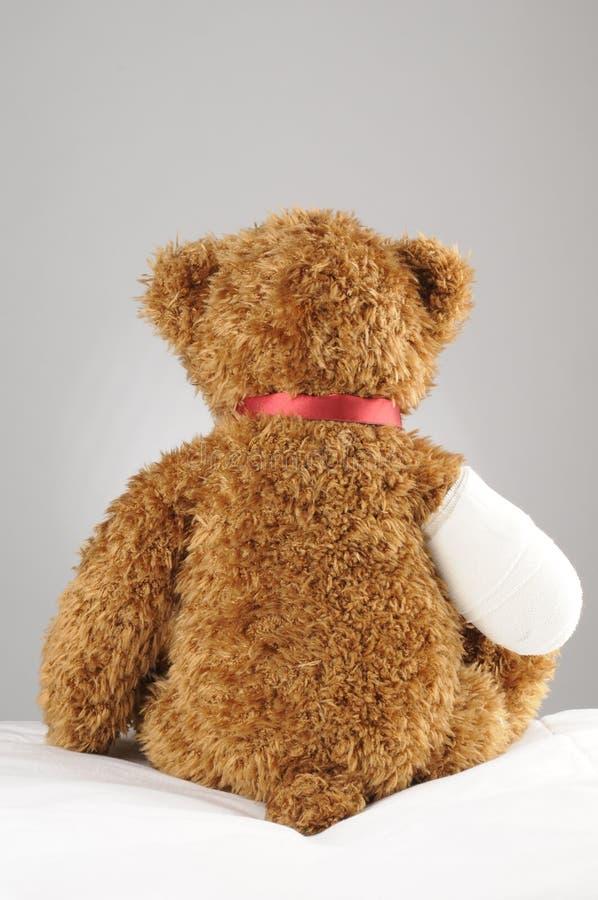 Trauriger Teddybär stockbild