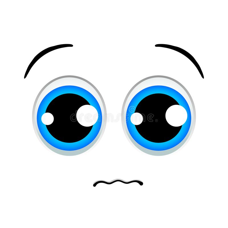 Trauriges Emoticonzeichen stock abbildung