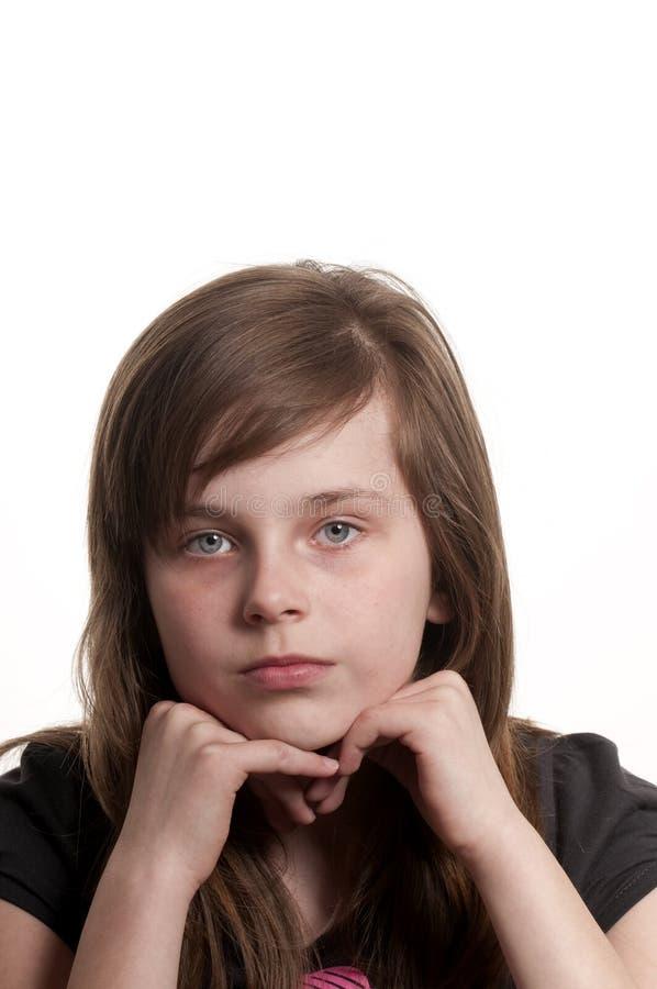 Trauriges junges Mädchen