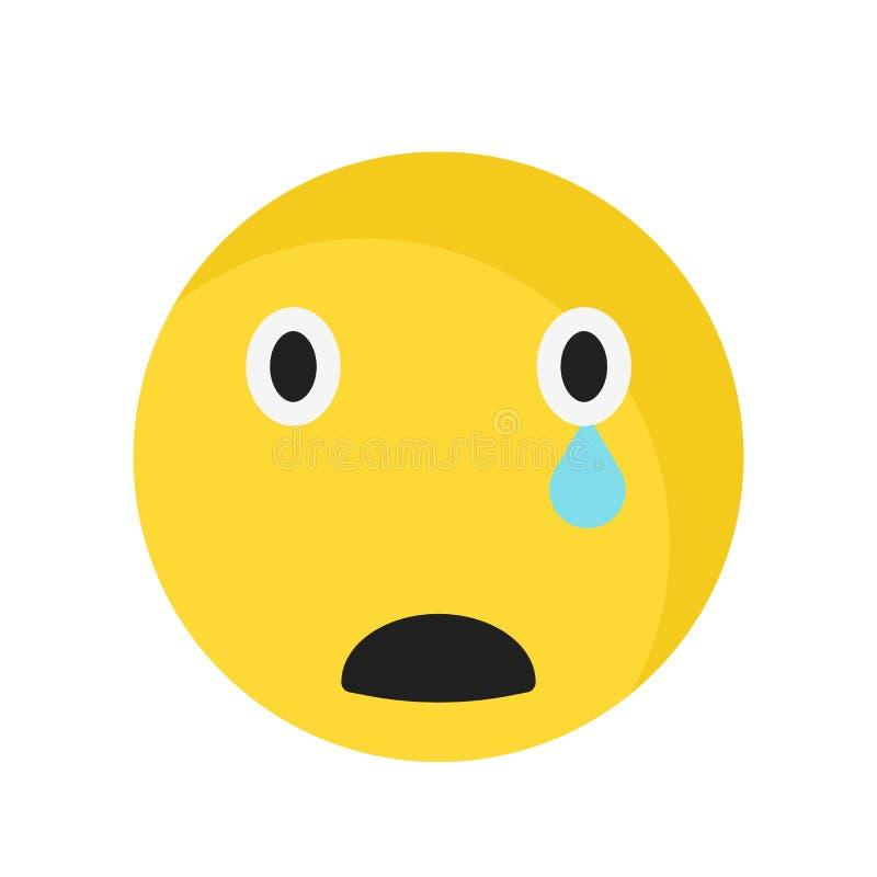 Trauriges Lächelnikonenvektorzeichen und -symbol lokalisiert auf weißem Hintergrund, trauriges Lächelnlogokonzept vektor abbildung