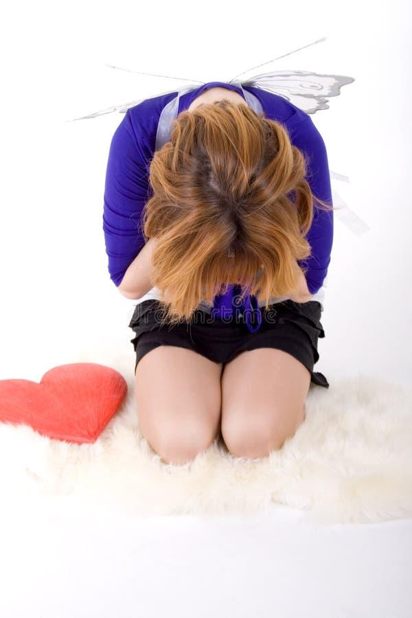 Trauriges Mädchen stockbilder