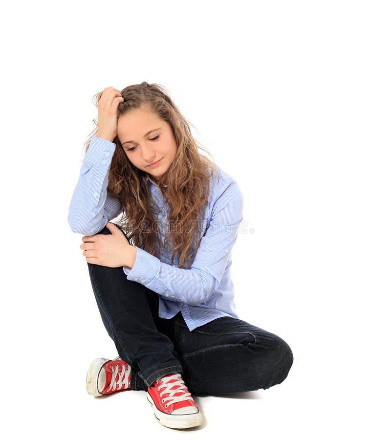 Trauriges Mädchen lizenzfreie stockfotos
