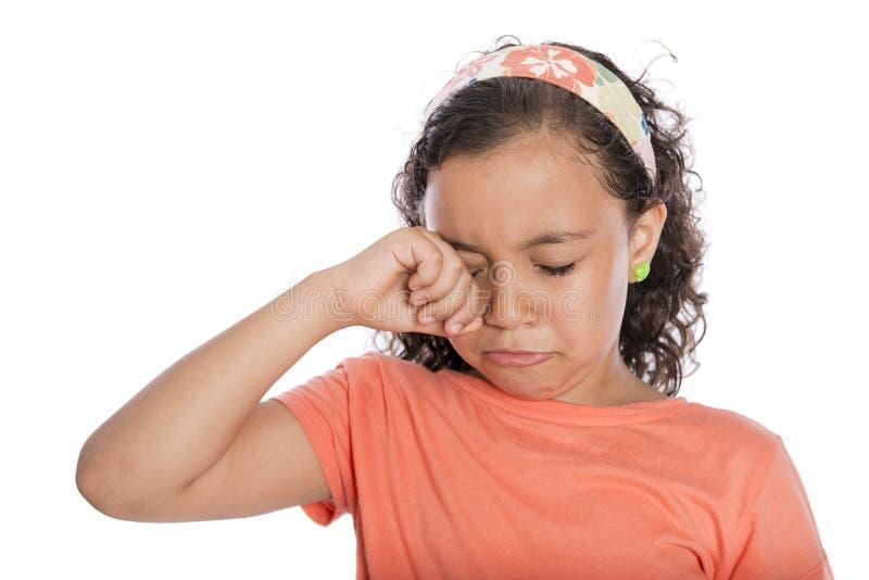 Trauriges Mädchen-Schreien stockfotos