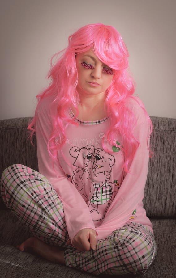Traurigkeit im Rosa lizenzfreies stockbild