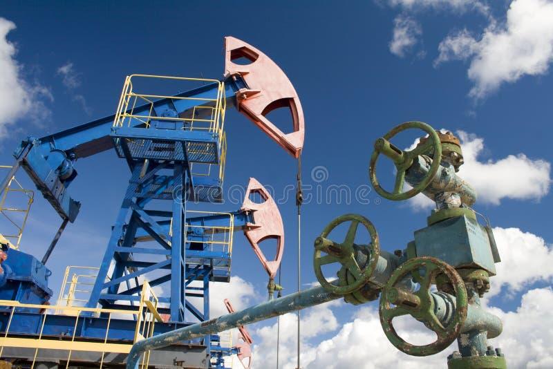 Trava do óleo Indústria do gás do und do óleo foto de stock royalty free