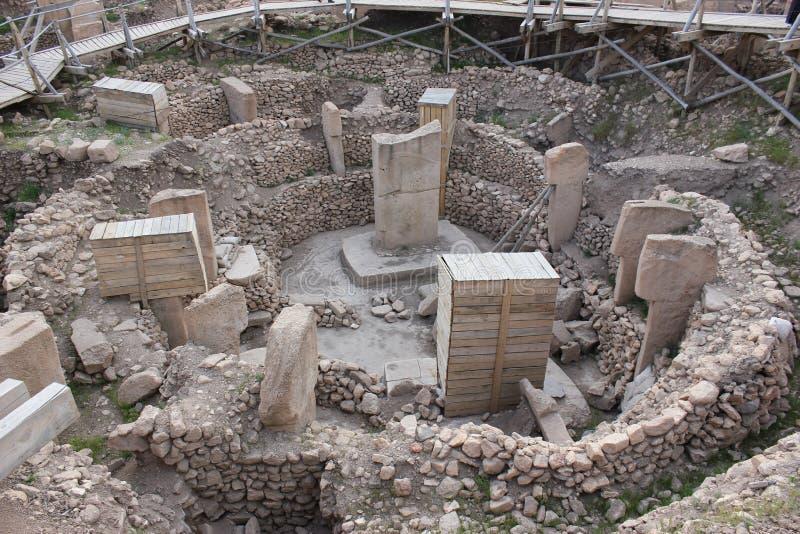 Travail archéologique dans Gobekli Tepe images stock