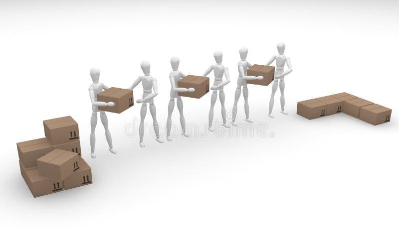 Download Travail d'équipe illustration stock. Illustration du modèles - 743763