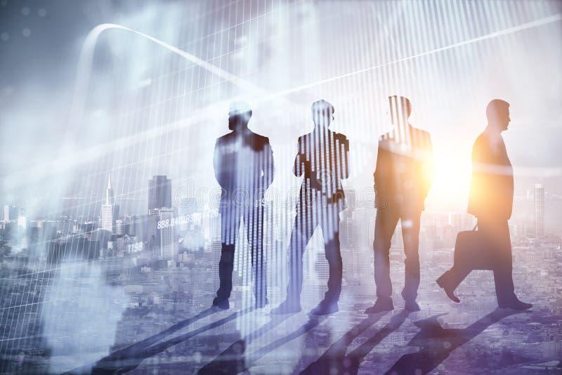 Travail d'équipe, affaires globales et concept de réunion image libre de droits