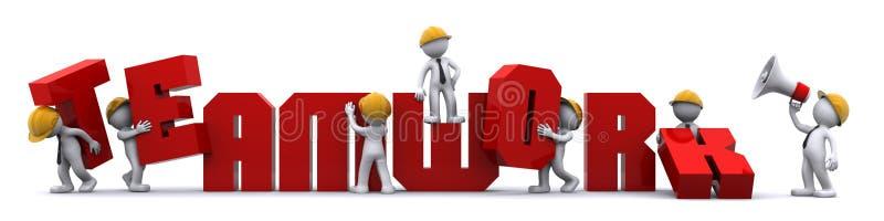 Travail d'équipe d'affaires. concept de construction. illustration de vecteur
