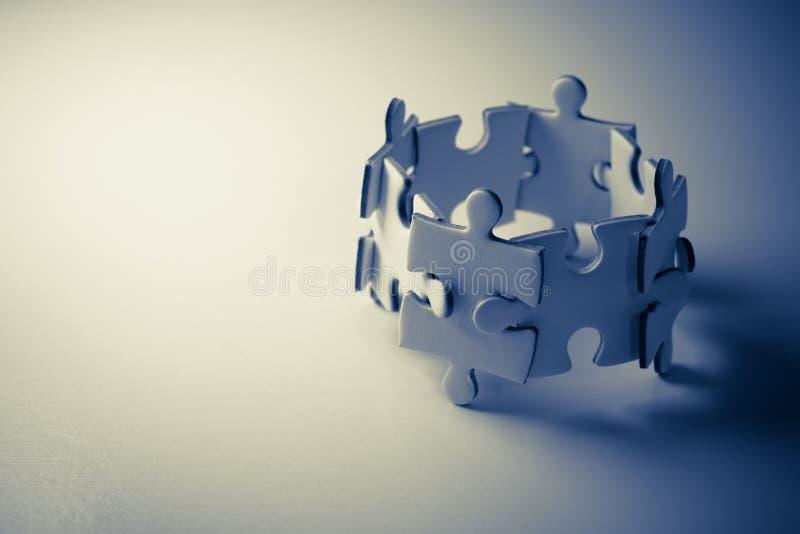 Travail d'équipe de concept de puzzle illustration de vecteur