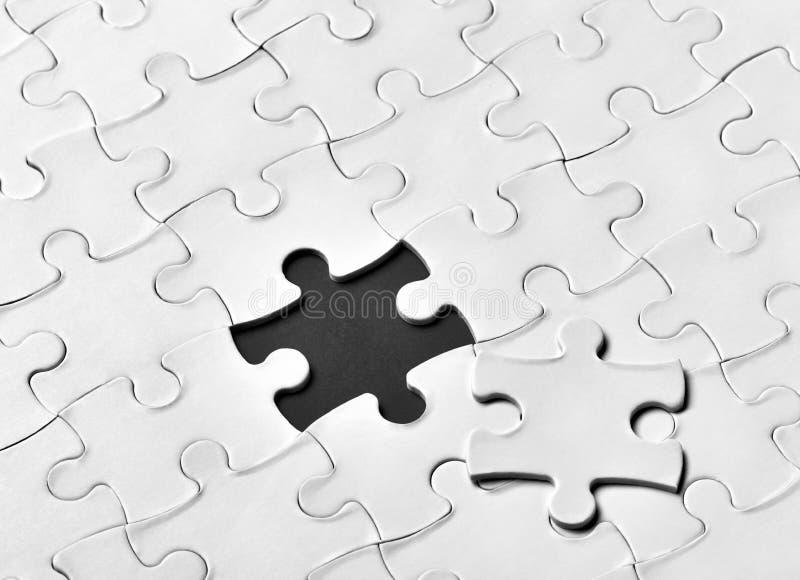 Travail d'équipe de solution de jeu de puzzle image stock