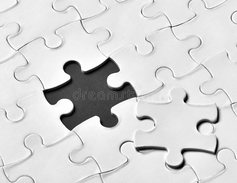 Travail d'équipe de solution de jeu de puzzle images libres de droits