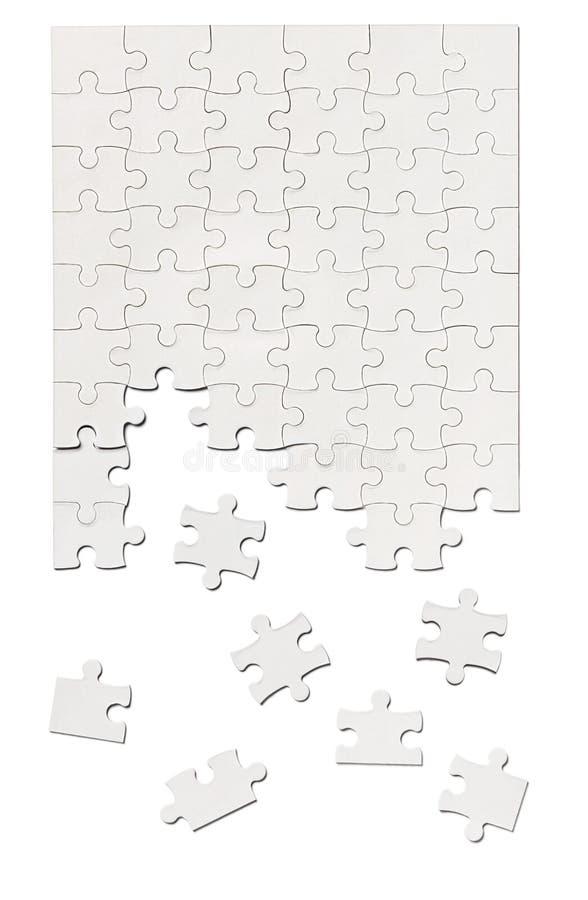 Travail d'équipe de solution de jeu de puzzle photographie stock