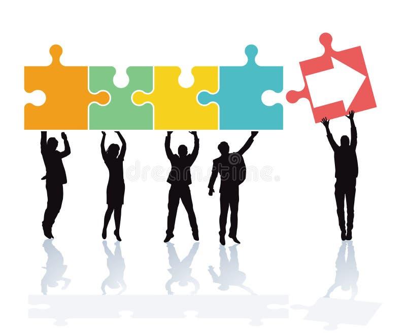 Travail d'équipe et coopération illustration libre de droits
