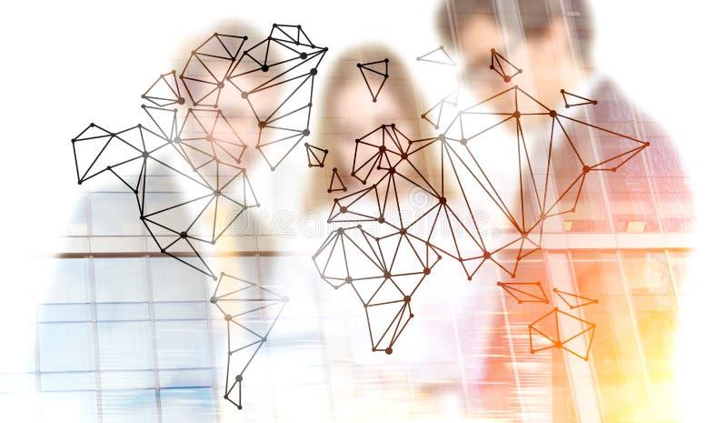 Travail d'équipe et mise en réseau globale illustration de vecteur