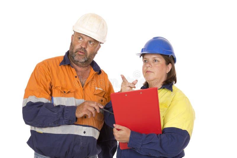 Travail d'équipe et planification image stock