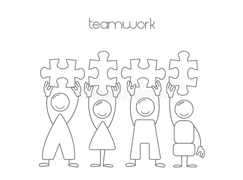 Travail d'équipe d'icônes Illustration de travail d'équipe dans les affaires illustration de vecteur