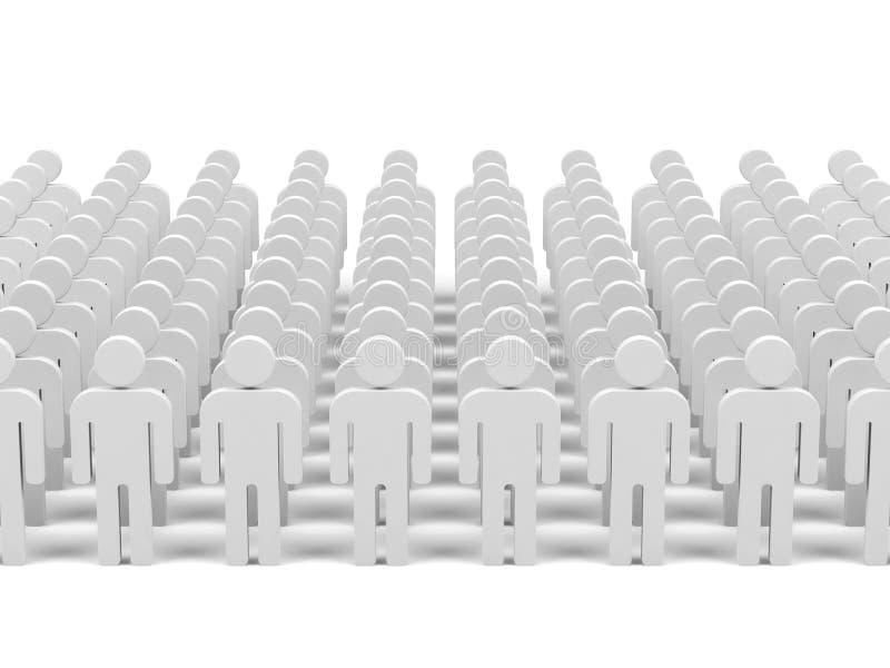 Travail d'équipe. image 3d. illustration de vecteur