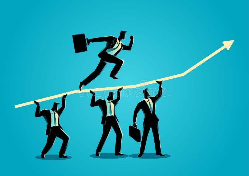 Travail d'équipe pour le succès illustration libre de droits