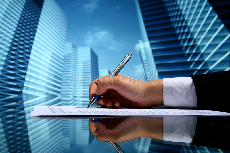 Travail d'agent immobilier image stock