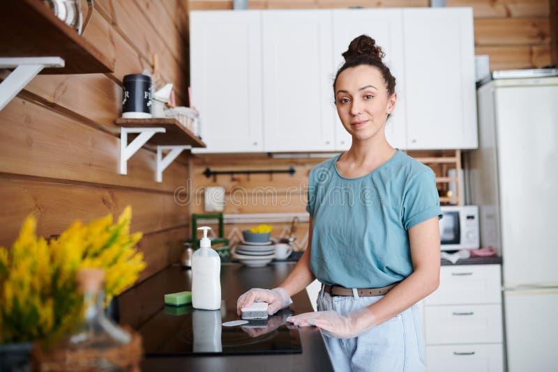 Travail de cuisine photographie stock libre de droits